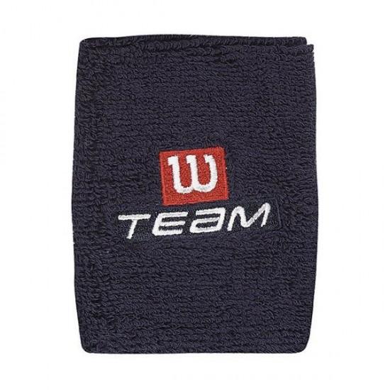 Накитник Wilson Double Wristband Team W Blue