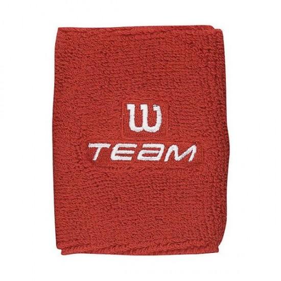 Накитник Wilson Double Wristband Team W Red