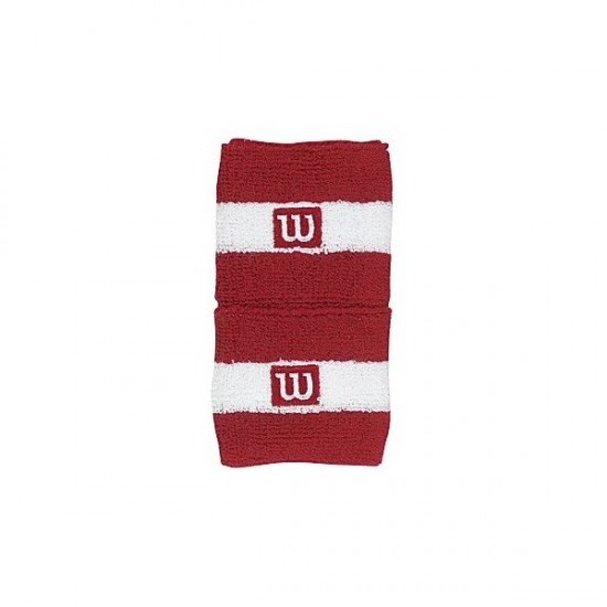 Накитник Wilson Striped Single Wristband Red Wh