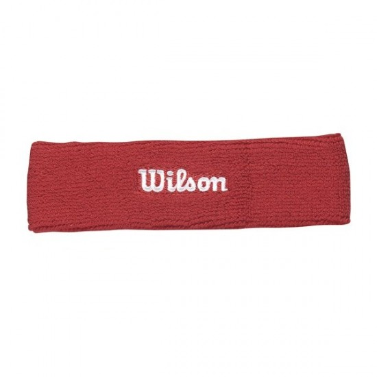 Лента за глава Wilson Headband Red