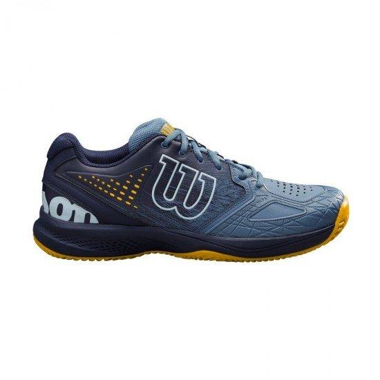 Мъжки маратонки за тенис Wilson Kaos Comp 2.0 Clay Blue Gold