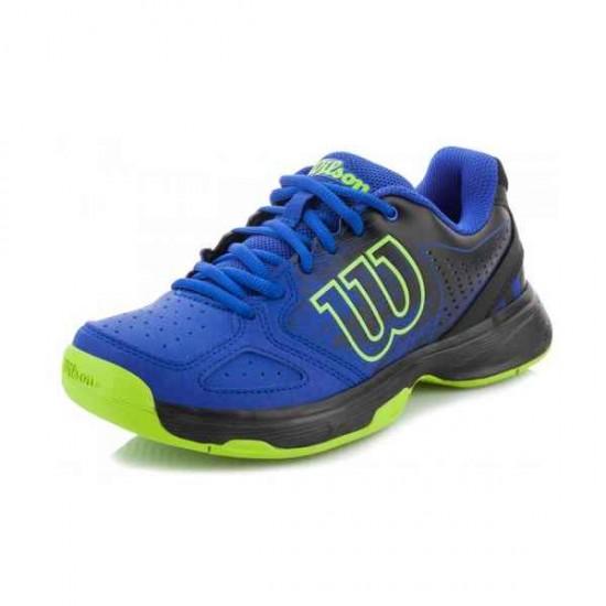 Детски маратонки за тенис Wilson KAOS COMP JR BLUE IRIS /BK/GR