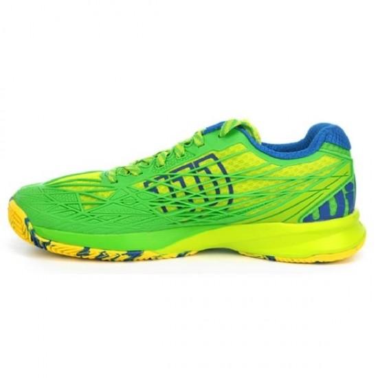 Мъжки маратонки за тенис Wilson KAOS Clay Court GR/Peppermint/Blue Yon