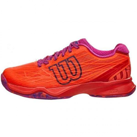 Дамски маратонки за тенис Wilson KAOS Woman Cor/FIERY RED/Rose Viol