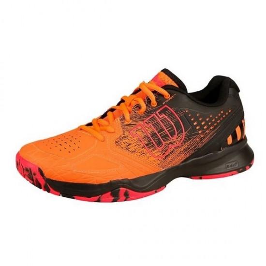 Мъжки маратонки за тенис Wilson KAOS COMP orange/ black/ neon red