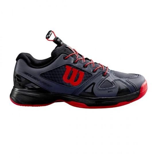 Детски маратонки за тенис Wilson RUSH PRO JR QL EBONY/BK/RD